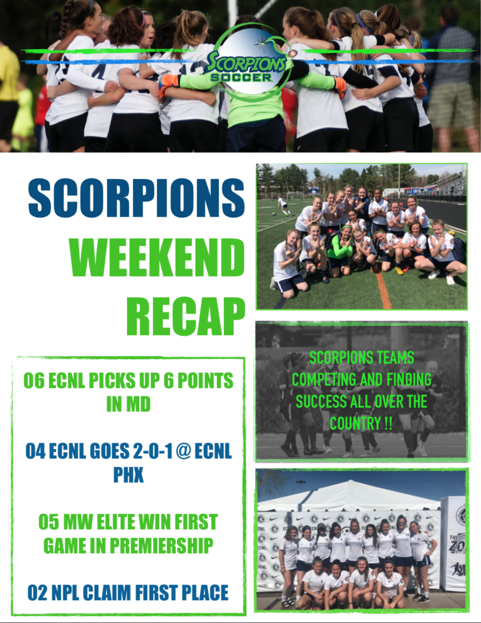 Scorpions Weekend Recap 4/6-4/7