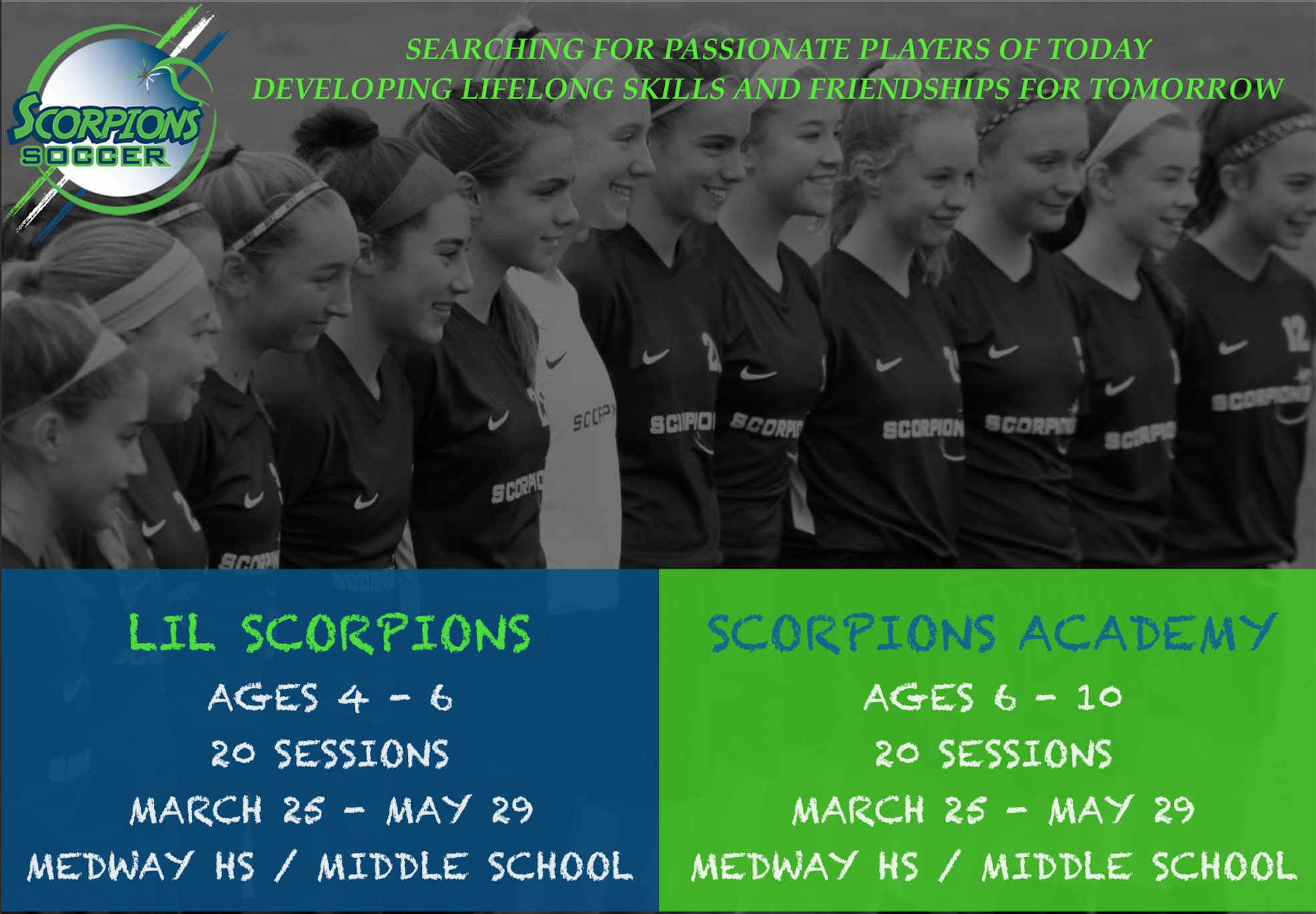 METROWEST & EAST REGION SCORPIONS ACADEMY & LIL SCORPIONS ANNOUNCED !