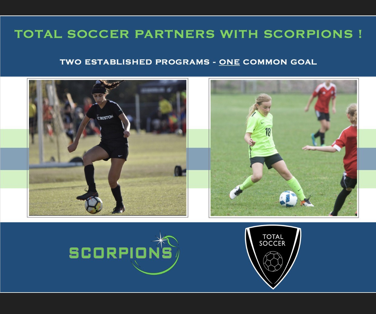 Scorpions Announce Partnership With Total Soccer !